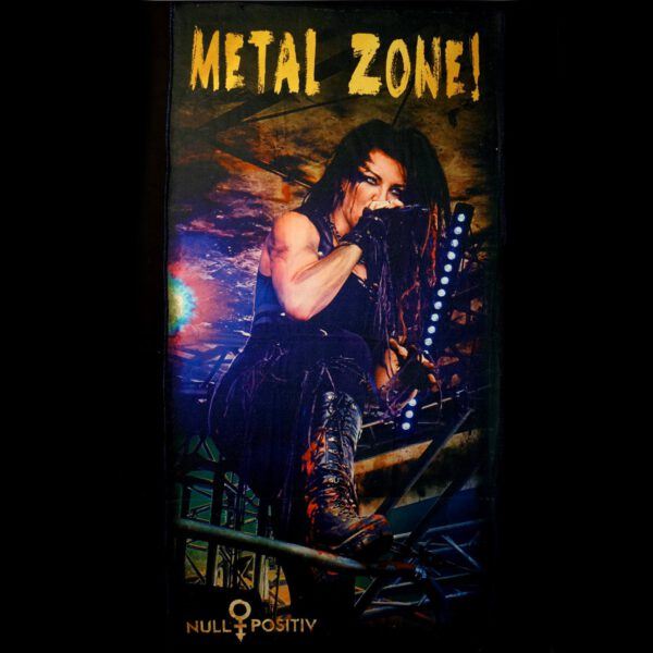 Null Positiv Handtuch Badetuch Fahne Flagge MetalZone Shop