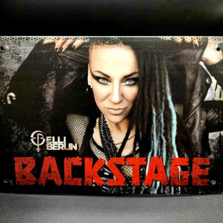 Metallschild Backstage Elli Berlin